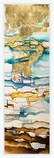 GLOWING HORIZON  Watercolors & Gold leaves 68 x 30 cm