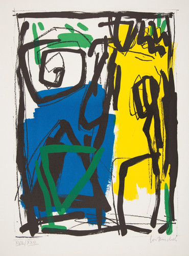 Gast Michels 1954-2013 Luxembourg Silkscreen 1991 79/200 76x56.5 cm