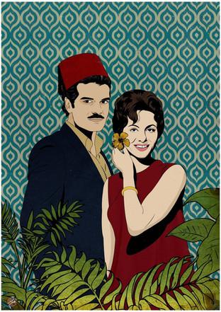 Omar Sharif & Faten Hamama