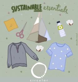 Essentials 🤍  Gracias a @les.ilustra por esta ilustración tan divina que nos identifica claramente♻️🍃🤍👕🌼👜  For a #happy and #sustainable living, wear @circular_brand 🤩