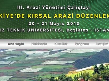 AYÖP'2013: III. Arazi Yönetim Çalıştayı Gerçekleştirildi..!