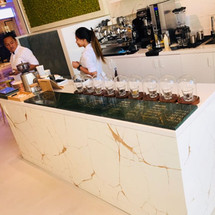 Cafe Counter designed by Janat Office Fit OUt in Dubai
