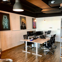 Open working office area in House Of Comms, Motor City.