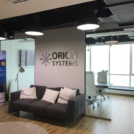 Orion Systems Sign, Dubai.