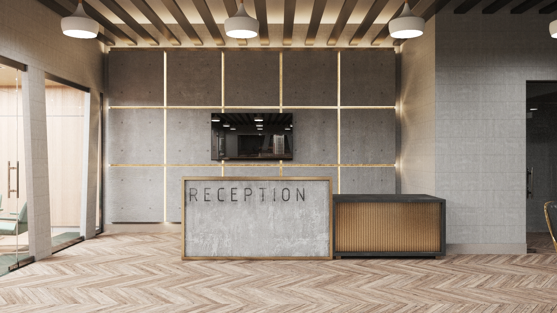 3d rendering of Reception