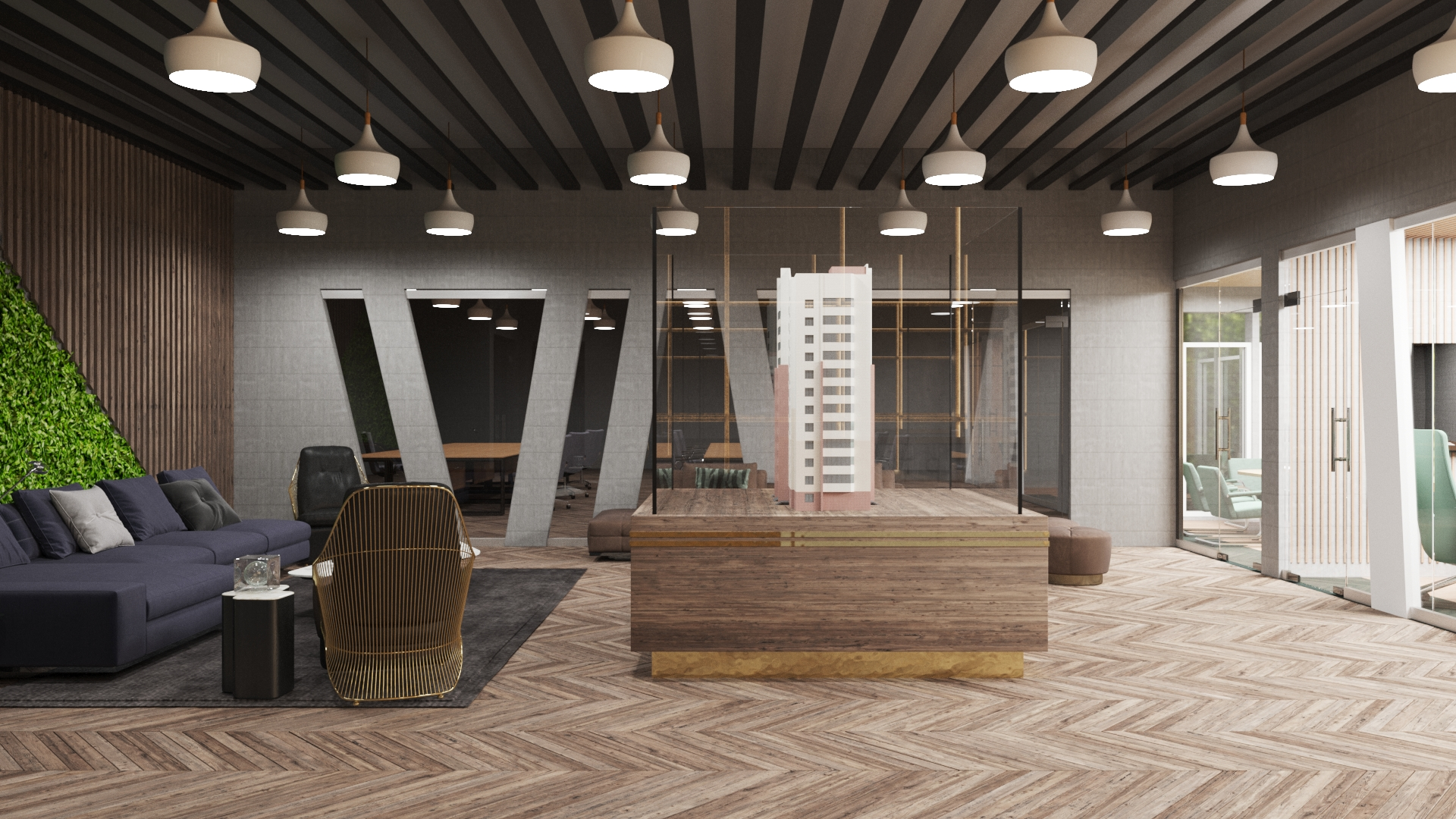 3D Office Partiotion Design