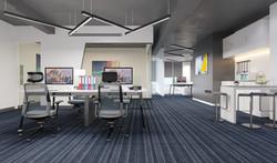 Open office ceiling 3d Rendering