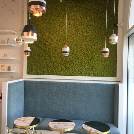 Sitting area in cafe, Dubai