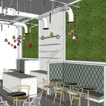 Beyou cafe 3D Designin  by Janat Office Fit Out