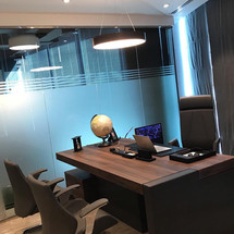 Mange's Office designed by Janat Office Fit Out in Dubai
