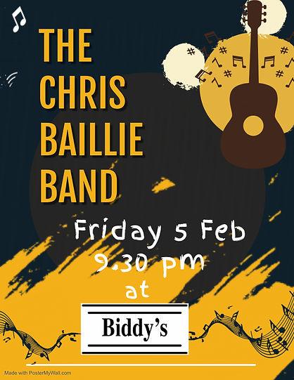 Copy of Chris Baillie  Band Live - Made