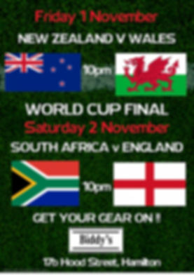 Rugby Poster Semi and final - Made with