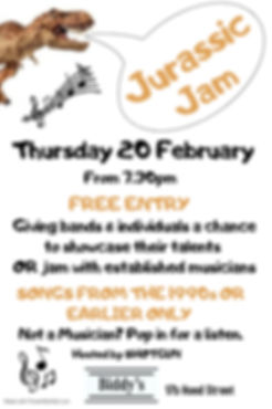 Jurassic Jam February - Made with Poster