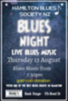 Blues night August - Made with PosterMyW