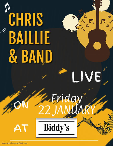 Chris Baillie  Band Live - Made with Pos
