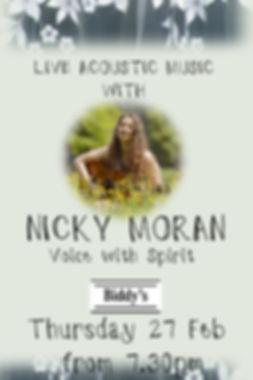 Nicky Moran January - Made with PosterMy