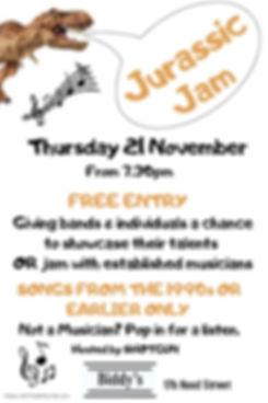 Jurassic Jam November - Made with Poster