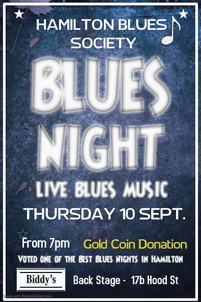 Blues night July - Made with PosterMyWal