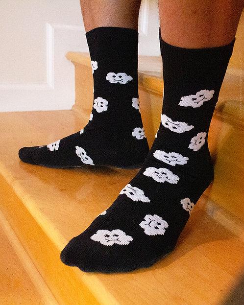 Cloudy Socks {Blk}