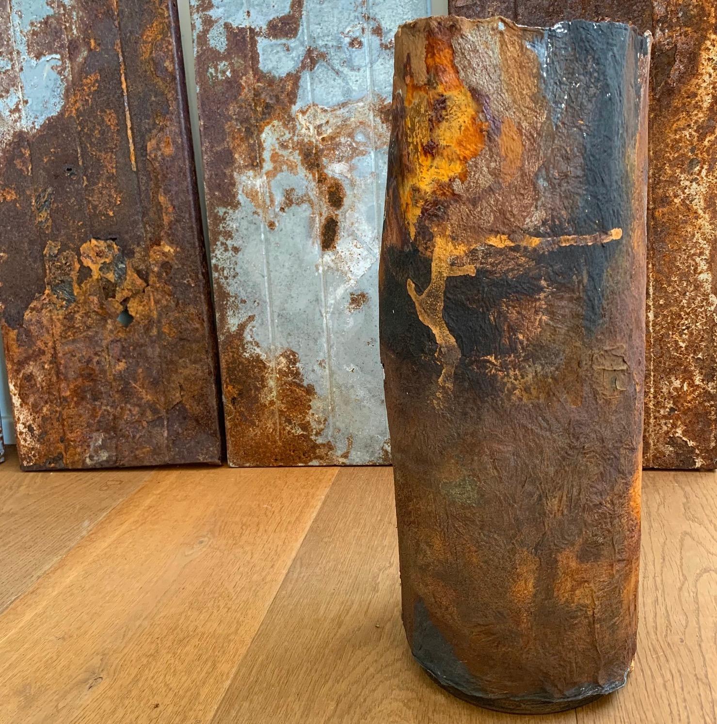 Joomchi Vessel with rusty shelving