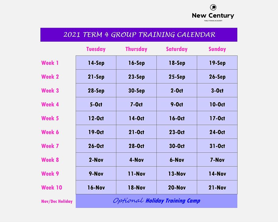 2021 Group Training Calendar (Term 4).pn