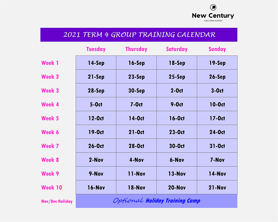 2021 Group Training Calendar (Term 4).pn