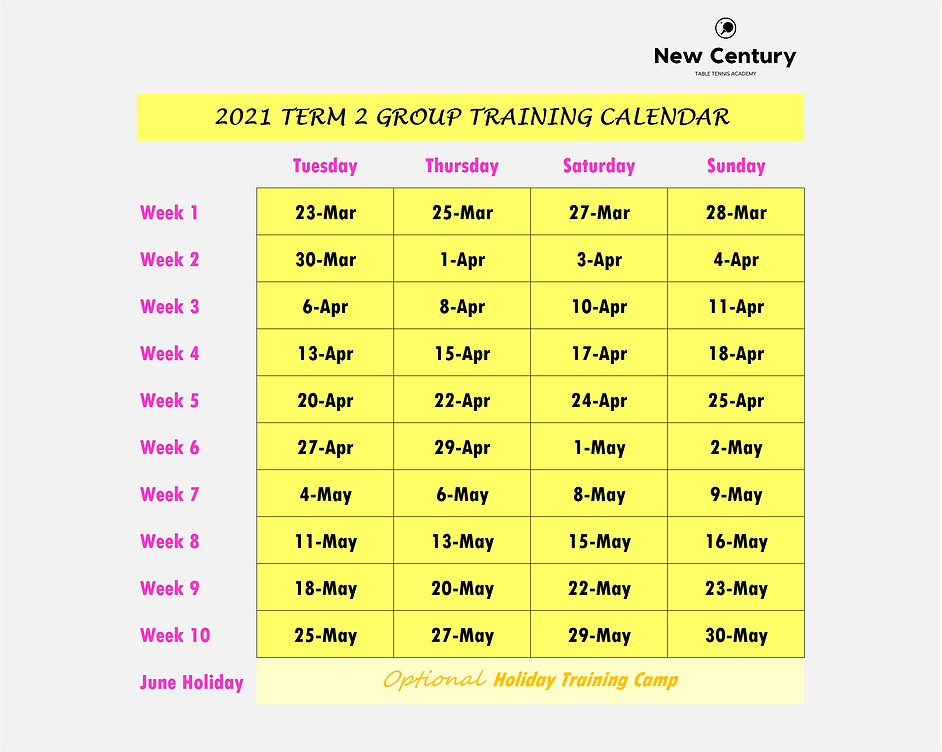 2021 Group Training Calendar (Term 2).pn