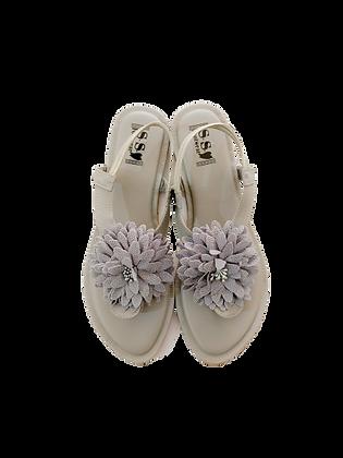 Flat Flower Sandals