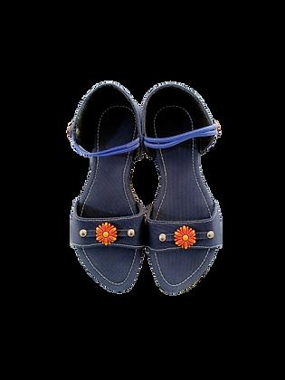 Flat Jean Sandals