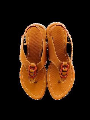 Ring Flat Jean Sandals