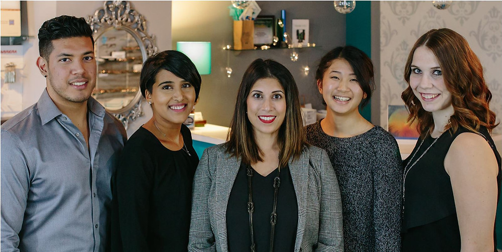 From left to right, Nadeem, Maneet, Dr. Priya, Dr. Stephanie, Cassie.
