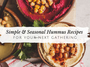Seasonal Hummus Recipes For Your Next Gathering