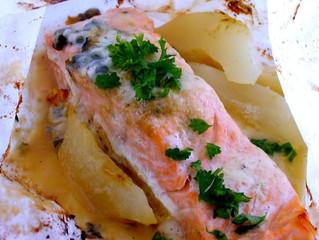 Papillotes au saumon à la mode charentaise :)