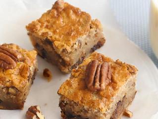 Brownies légers chocolat blanc et noix de pécan