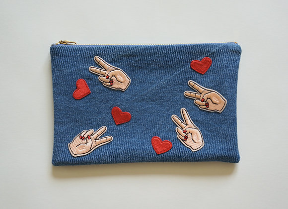 Peace / Love Bag Light Wash