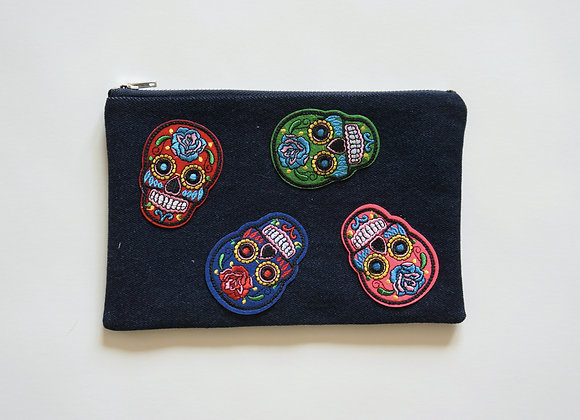 Sugar Skull Bag Dark Wash