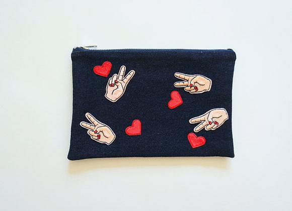 Peace / Love Bag Dark Wash