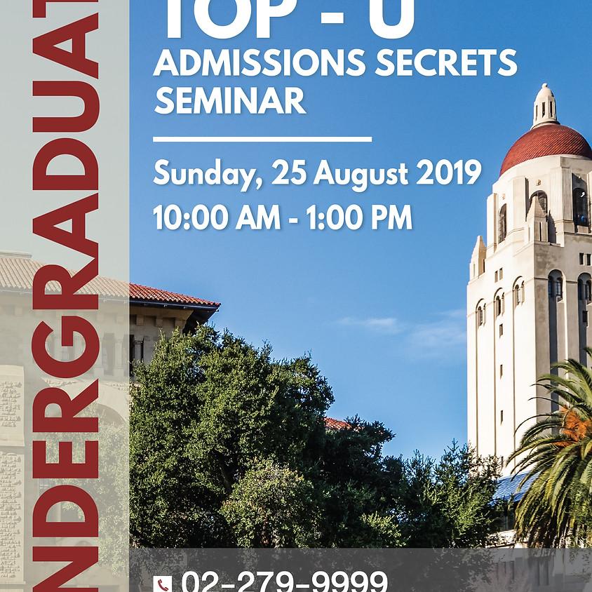 Top-U Admissions Secrets Seminar for Undergraduate