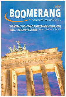 Brochure Boomerang Week-end et courts séjours