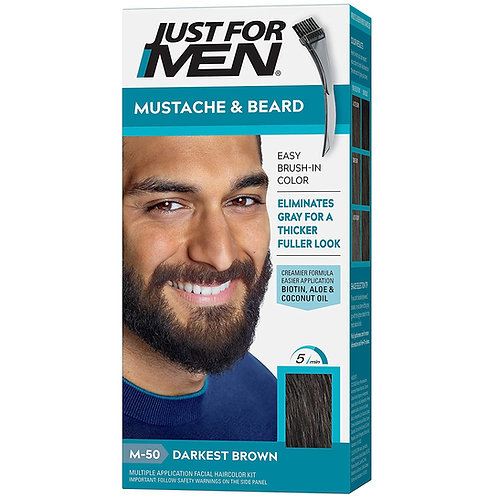 JUST FOR MEN BRUSH-IN MUSTACHE & BEARD DEEP DARK BROWN