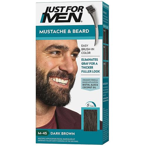 JUST FOR MEN BRUSH-IN MUSTACHE & BEARD DARKEST BROWN