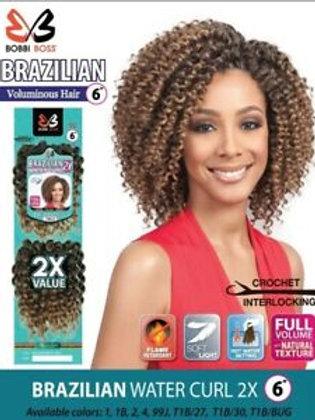 """BRAZILIAN 2X WATER CURL 6"""""""
