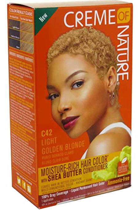 CREME OF NATURE CNI LIQUID HAIR COLOR #42 LIGHT GOLDEN BLONDE