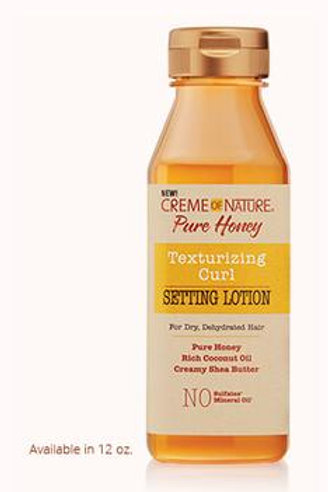 CREME OF NATURE PURE HONEY TEXTURIZER CURL SETTING LOT 12 OZ