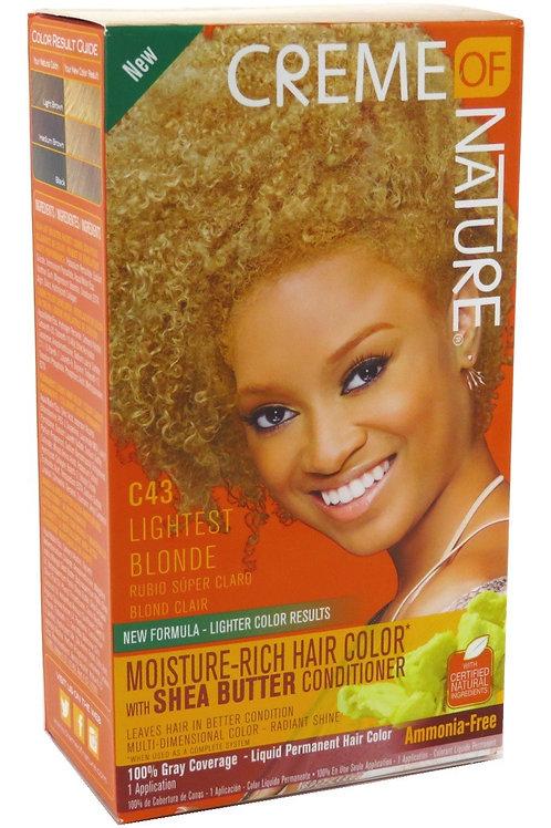 CREME OF NATURE LIQUID HAIR COLOR #43 LIGHTEST  BLONDE