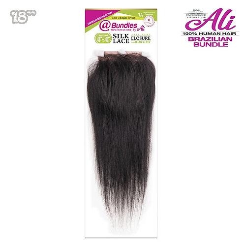 7A Brazilian Bundle 4x4 Lace Closure - Straight