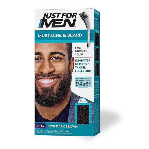 JUST FOR MEN BRUSH-IN MUSTACHE & BEARD RICH DARK BROWN