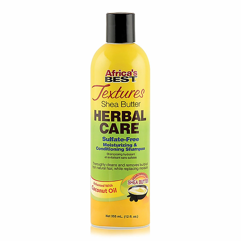 AFRICA'S BEST TEXTURES HERBAL CARE CONDITIONING SHAMPOO 12 0Z