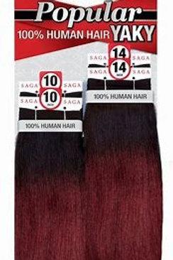 SAGA POPULAR 100% HUMAN HAIR YAKY