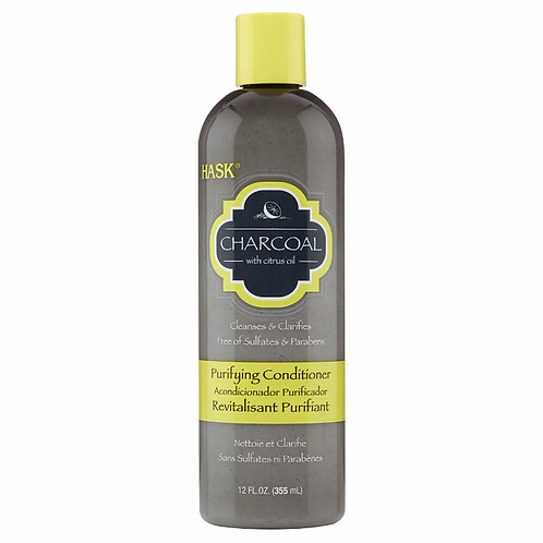 HASK CONDITIONER 12 OZ CLARIFYING CHARCOAL